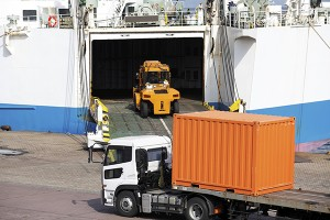 Roro-ship and ferry-boat